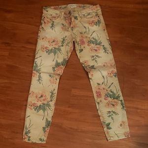 Current/Elliot Floral Skinny Jeans